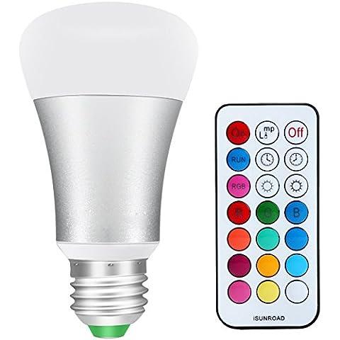 Guo 10W cambio de color regulable E27Base 85–265V 900LM blanca fría RGBW LED Bombilla con mando a distancia