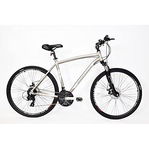 "51twH3uMPuL. SS500  - AMMACO MENS CS700 23"" FRAME HYBRID BIKE LOCKOUT FORKS 24 SPEED 700C WHEEL BIKE ALLOY"
