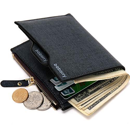 NSQBTM Brieftasche Hot Fashion Geldbörsen Für Männer Mit Münzfach Brieftasche Kartenhalter Clutch Mit Reißverschluss Männer Brieftasche Mit Münztüte Geschenk