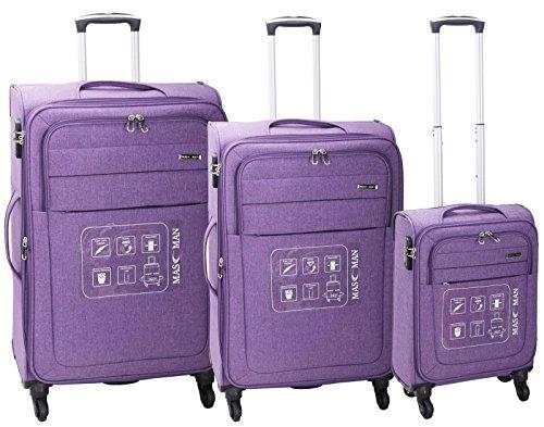 Super Leicht 4Rad Spinner Gepäck Koffer Reise Trolley Fällen Violett Orchid Purple 32