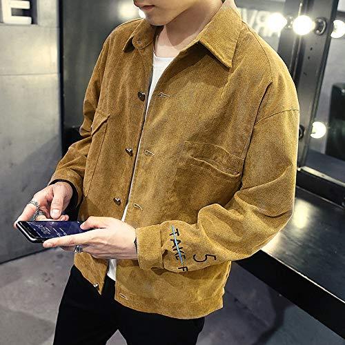 Shukun Jacke Dünne Männer Jacke Jugend Mode Jacke Männer süße Jeans Cowboy Coat.Khaki, M -