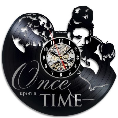 Once Upon a Time Thema Vinyl Clock Schlafzimmer Wanddekoration (Uhr Once Upon A Time)