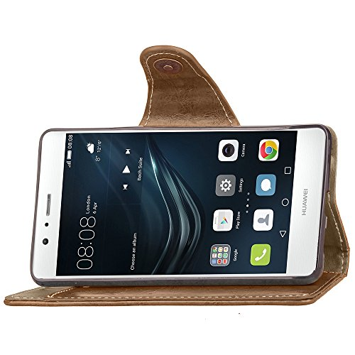 Iphone 6 Hülle,E-Lush Premium PU Leder Multifunktions Magnetverschluss Geldbörse Handytasche Etui Case Cover Schutzhülle für Iphone 6 6S Klapphülle 360 Full Body Protection Flip Case Wallet Cover Weic grau