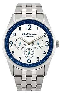 BEN SHERMAN Herren-Armbanduhr Analog Edelstahl beschichtet silber R962