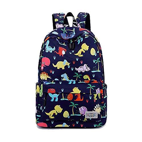 Kinder Jungen Mädchen Kleinkind Einhorn Kindergarten Wandern Reise Schule Buch Tasche Pink Blau Grün, Style 2 Blue (Blau) - ZYS6119-Dinosaur Blue1 ()