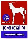 Masenghini 2390 - Poker Cavallino Carte da Gioco, Astucio Rosso