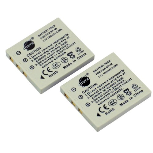 DSTE 2-Pacco Ricambio Batteria per Fujifilm NP-40 NP-40N FinePix F460 F470 F480 F610 F650 F402 F403 F420 F455 F700 F710 F810 F811 J50 V10 Z1 Z2 Z3 Z5fd