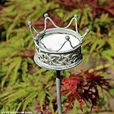 Videx Metall-Gartenstecker Krone, 80cm, antik-grau