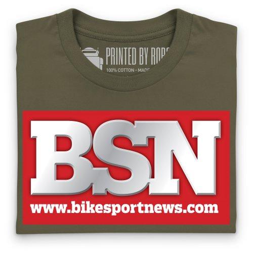 BSN Logo T-Shirt, Damen Olivgrn