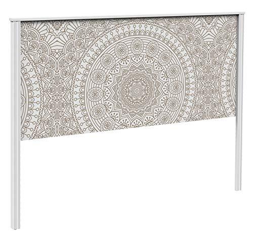 Miroytengo Cabecero Dormitorio Matrimonio Decorado con impresión Digital Mandala diseño Bohemio étnico 160x126 cm