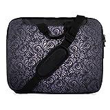 """TaylorHe 15"""" 15,6"""" Borsa in Nylon per notebook borsa a tracolla per PC portatili Laptop Sleeve Case con manici e tracolla tasche per accessori Samsung/Acer/Toshiba/Macbook elegante, paisley"""