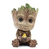 thematys Baby Groot Blumentopf - Innovative Action-Figur für Pflanzen & Stifte aus dem Filmklassiker I AM Groot (F groß)