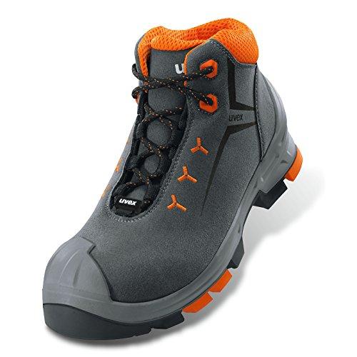 Uvex 2S2-scarpa di sicurezza (suola per esterno, Leggero, materiale Esterno: Velluto, varie taglie) Grigio Size: 44 EU