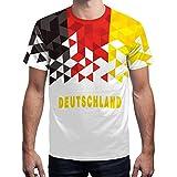 BesserBay Herren Deutschland Fan-Shirt WM 2018 Fußball Work-Out Trikot Rundhals L