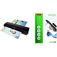 Olympia A 330 Plastifieuse format max. DIN A 3 (330 mm), chaud froid, 6 pochettes incluses, Noir & Fellowes 5351205…