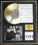 THE BEATLES CD GOLD DISC UND PHOTO UND SONG SHEET DISPLAY/LIMITIERTE AUFLAGE/COA/ALBUM, HELP /SONG SHEET, YESTERDAY
