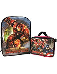 Marvel Avengers Age Of Ultron Large Backpack With Lunch Kit(1620)