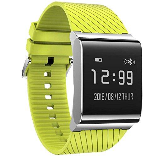 DDUWIN Fitness Tracker, Bluetooth 4.0 Wasserdichte Smart Armband Bands Sportuhr Bund mit Herzfrequenzmesser und Blutdruckmessgerät für IPhone Android Smartphone , sports green