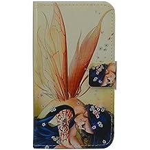 Elephone P8000Funda [lápiz capacitivo], lujo Cartera Titular de la tarjeta cierre magnético Funda de piel para Elephone P8000(diseño de alas)