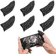 6 قطع قفازات إصبع شاشة تعمل باللمس أطراف الأصابع من دريم لينك مصنوعة من الألياف الموصلة، مضادة للتعرق، رقيقة ج