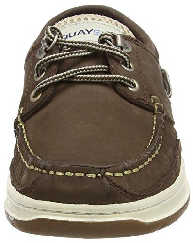 Quayside Sydney, Chaussure bateau mixte adulte Brown (Walnut)