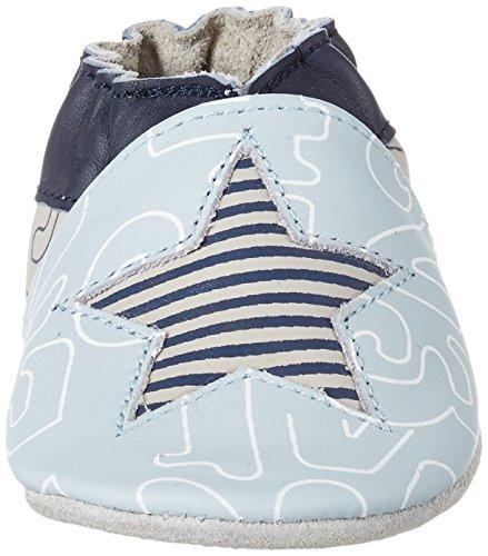 Robeez Baby Jungen Kindergarten Krabbel-& Hausschuhe Bleu (Bleu Clair)