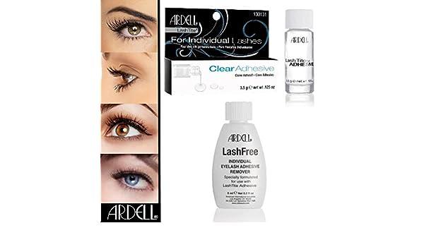 b3c5c3077f6 Lot de 2 Ardell Tite Clear + Colle Lashes Faux Faux cils Ardell Lashfree  Dissolvant Remover: Amazon.fr: Beauté et Parfum