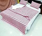 Hand Block Print Quilt Jaipuri Razai Paar verwenden Decke Schlafzimmer Tagesdecke Quilt Maschine gearbeitet, indische Vintage Tröster Bettwäsche Quilt 90'x 108' mit Kissen