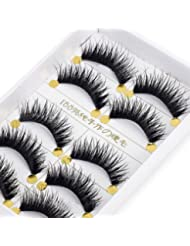 BESTIM INCUK 5 Pairs Makeup Beauty Long False Eyelashes Thick Cross Eye Lashes Extension