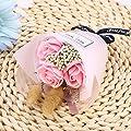 BESTOYARD Rosen Duftseifen Echte Blumenstrauß Konservierte Rose Kunstblumen Blumenbox Flowerbox Rosenbox Geschenkbox für Frauen Ewige Blumen Bouquet Hochzeit Deko (Rosa) von BESTOYARD bei Du und dein Garten