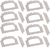 Sichler Haushaltsgeräte Zubehör zu Fenster-Saugroboter: 8er-Set Ersatz-Mikrofaser-Tücher für Fensterputz-Roboter PR-050