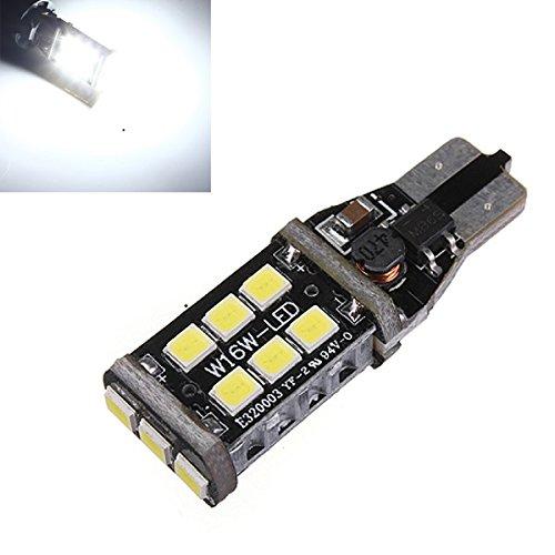 MASUNN Blanc T15/T10 15W LED Voiture de Secours Ampoule de Frein