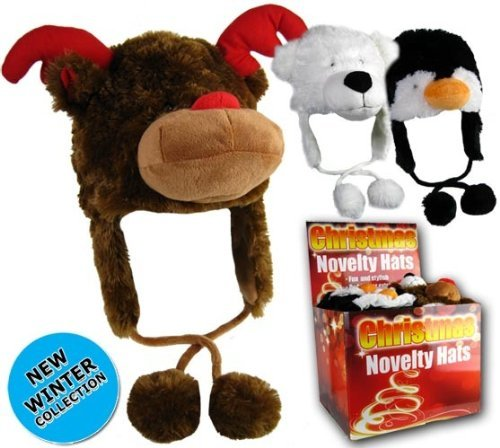 Reindeer Rudolph Girls/Boys Christmas Novelty Fur Animal One -