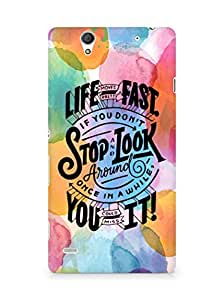 AMEZ life moves pretty fast Back Cover For Sony Xperia C4