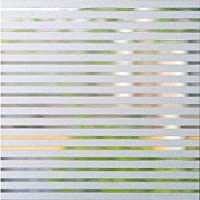 AoJia Vinilo de Ventana Pegatina Vinilo Vinilo Pegatina Adhesiva Decorativa Proteger Privacidad del Bano Cristal de Ventanal Cocina Oficina 45x200cm