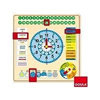 Goula-Clock and Calendar, Educational Material (Diset 51305) English Language not guaranteed