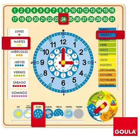 Goula - Reloj y calendario en castellano, material educativo (Diset 51305)