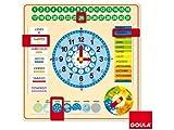 Unbekannt Goula Diset 51305 Uhr und Kalender für Kinder zum Lernen, auf Spanisch, Unterrichtsmaterial