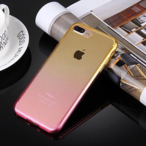 Hülle für iPhone 7 plus , Schutzhülle Für iPhone 7 Plus stilvolle klare Kristall Steigung Farbe Acryl + TPU Schutzhülle Rückseite ,hülle für iPhone 7 plus , case for iphone 7 plus ( SKU : IP7P0120YL ) IP7P0120YF