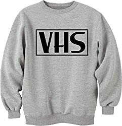 Nothingtowear Unisex VHS Video Tape Retro Vintage Logo Dope Sweatshirt Jumper Grau XXL