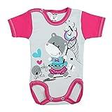5er Set Baby Kurzarm-Body mit Aufdruck 100% Baumwolle Kurzarmbody Mädchen Babybody Jungen, Farbe: Mädchen - 4
