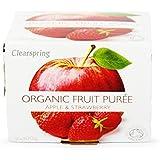 Clearspring Orgánica de Apple y de la fresa Puré de 2 x 100g