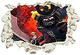 Unified Distribution Lego - Ninjago - Garmadon - Be Victorious - Wandtattoo mit 3D Effekt, Aufkleber für Wände und Türen Größe: 92x61 cm, Stil: Durchbruch