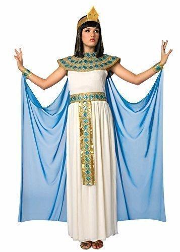 xy Kleopatra ägyptisch Königin ausgefallenes Kostüm Verkleidung Outfit UK 10-16 - Weiß, 10-12 (ägyptische Königin-kopfbedeckung)