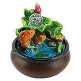 Ichiias Desktop Brunnen Mini Feng Shui Lucky Fish Home Desktop Dekoration