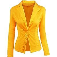 Slim Blazer Solido di Colore Casuale Outwear Femminile