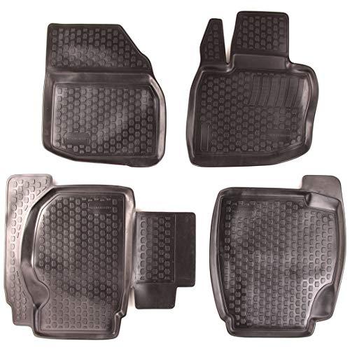 SIXTOL Set tappeti Auto per Honda Civic VIII Hatchback 4 Pezzi - Tappetini in Gomma 3D Antiscivolo - Compatibilità Perfetta - Impermeabili, Resistenti