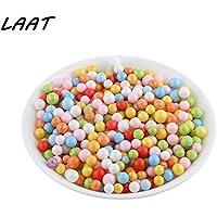 Laat decoración bolas de espuma de poliestireno, multicolor perlas DIY hecha de modelaje, 3, 2.5-3.5mm