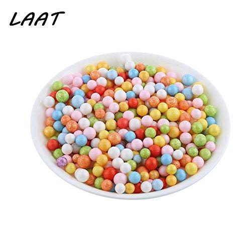 7560ba103 Laat decoración bolas de espuma de poliestireno, multicolor perlas DIY  hecha de modelaje, 3