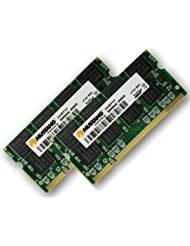 2GB Dual Channel Kit Mustang / Hynix original 2 x 1 GB 200 pin DDR-333 (PC-2700) 64Mx8x16 double side für DDR1 Notebooks